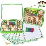 Art with smile Alphabet Stempel-Set beinhaltet 67 Teile mit Einem Organizer Koffer, Bildungsspielzeug für Kinder – Fördert Kunst & Handwerksfähigkeiten am Besten für Kinder, Lehrer & Eltern Geeignet