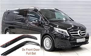 2x Windabweiser Kompatibel Mit Mercedes Benz Vito Viano V Klasse W447 2014 Heute Mk3 Dunkel Getöntes Premium Qualität Acrylglas Auto