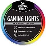 KontrolFreek Gaming Lights: USB Powered LED Strips. Luces LED| Adhesivo 3M para TV, Console, PC y pared (9 ft).