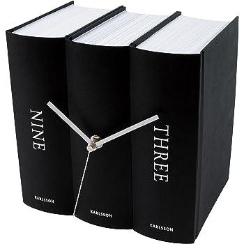 Present Time Karlsson KA4283 Orologio da Tavolo Book