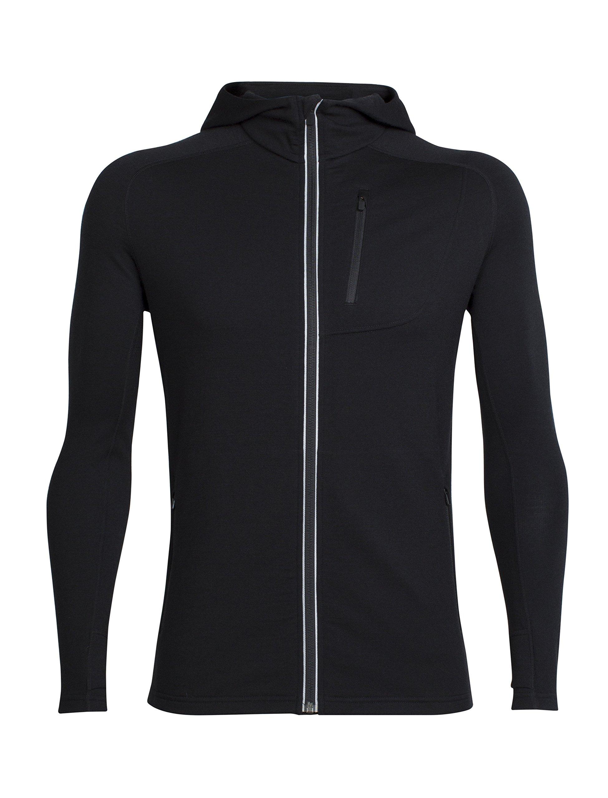 81O782734uL - Icebreaker Men's Quantum Long Sleeve Zip Hood Cover Ups