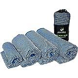 pandoo ♻ bambù–Asciugamano da Viaggio, ultraleggero, estremamente assorbente, antibatterico e ad asciugatura rapida, meglio