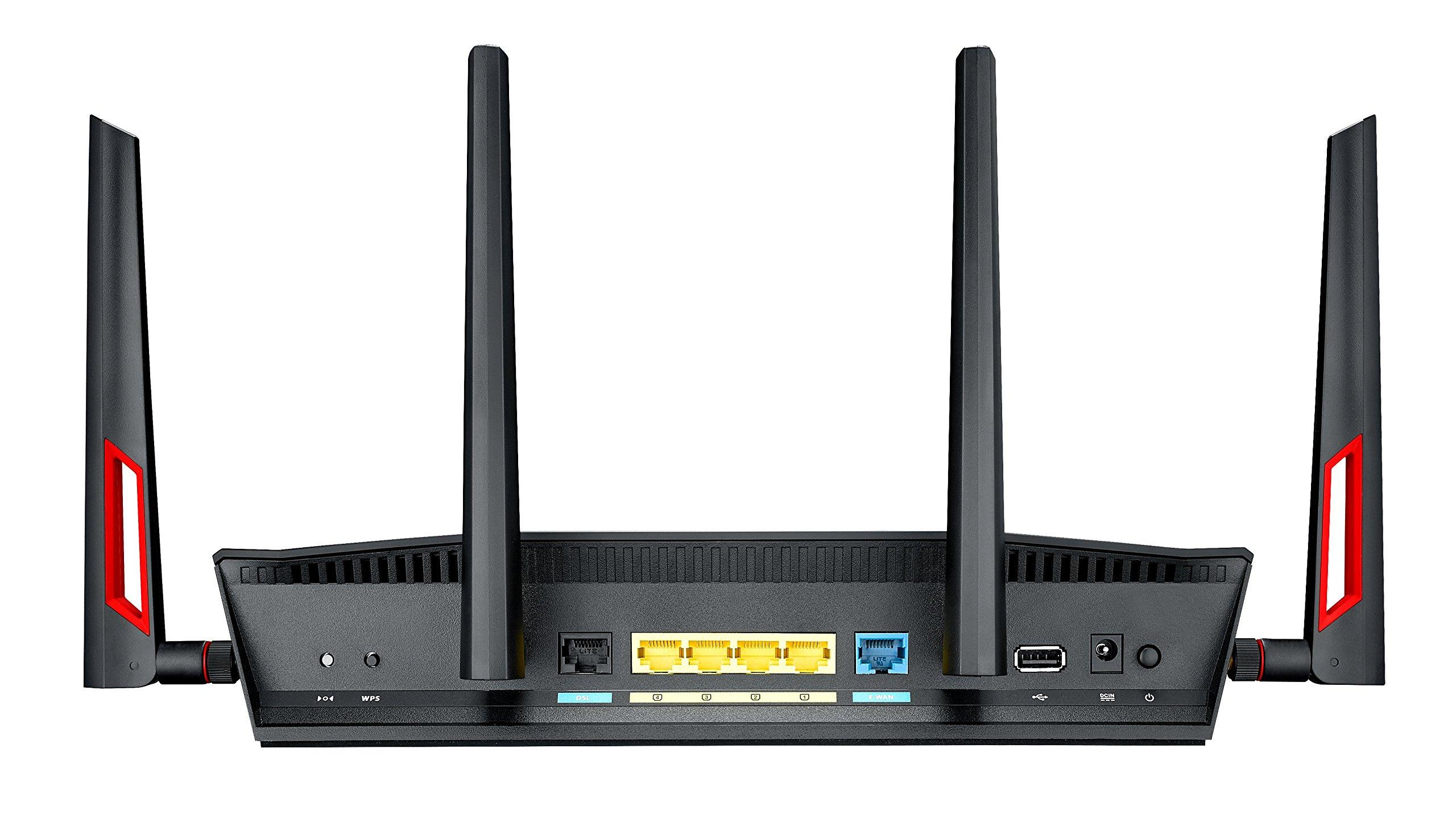 Asus DSL-AC88U Modem Router (EU-Version Annex A, WiFi 5 AC3100 MU-MIMO, 4x Gigabit LAN, AiProtection, Dual-Core CPU…