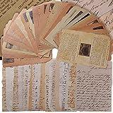50Feuilles Papier Journal Vintage Scrapbooking Papeterie Décoratifs Rétro DIY Album Photo Décoration pour Artisanat Scrapbook