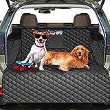 Protecteur de doublure de coffre de voiture de chien, tapis de couverture de siège de chien imperméable avec protecteur de ra