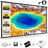 Projektorskärm 120 tum, utomhus filmskärm 16:9 HD 4K vikbar anti-veck bärbar videoprojektionsskärm dubbelsidig för hemmabio i
