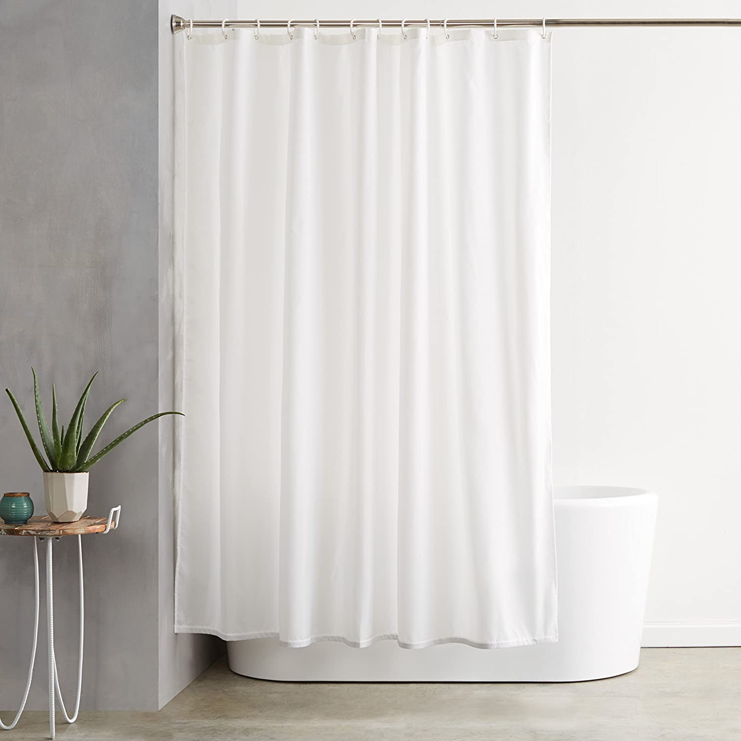Peva Shower Curtain Mono Spots Grey Black By Beamfeature