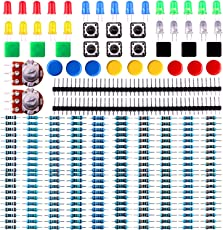 Elegoo Elektronik Komponente Pack mit Widerstand, LED, Druckschalter, Potentiometer für Arduino UNO, MEGA2560