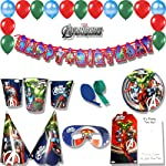 ThemeHousePartyv Marvel Avenger Super Saver Birthday Party Combo with 101 No of Items