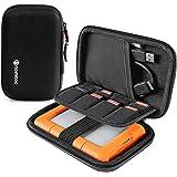 tomtoc Bärväska för viktig extern hårddisk, EVA stötsäker bärbar väska för resor kompatibel med 2,5 tum Western Digital | Tos