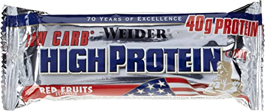 Weider Low Carb High Protein Bar, Rote Früchte, 2 x 100 g (1 x 200 g)