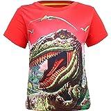 Coralup Camiseta de dinosaurio para niños pequeños, 12 meses a 7 años