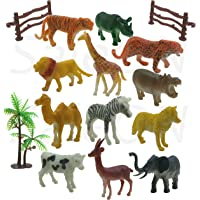 SaleOn™ Set of 12 Zoo Wild Animals Figures Toys for Kids , Animal Toy Set Play for Kids (1189)