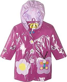 LZH Bambina Impermeabile Ragazzi Pioggia Giacca con Cappuccio Giacca a Vento