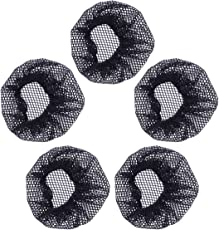 Frcolor Ballet Dance Hairnet Hair Nets Bun Cover Hair Accessories 5pcs (Small Hole, No Lace)