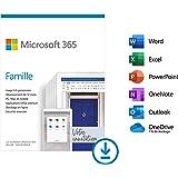 Microsoft 365 Famille, Téléchargement, PC ou Mac, Jusqu'à 6 personnes