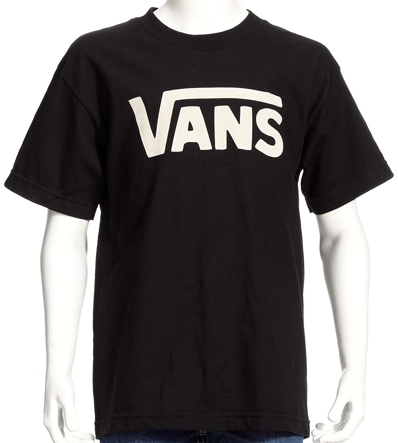 T shirt white black - Vans Boy S Vans Classic Short Sleeve T Shirt White White Black X Large Vans Amazon Co Uk Clothing