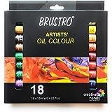 BRUSTRO Artists' Oil Colour Set of 18 Colours X 12ML Tubes
