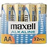 Maxell alkaline LR6 piles AA - Lot de 32