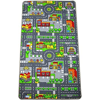 Kids Road Map Playmat Rug Amazon Co Uk Kitchen Amp Home