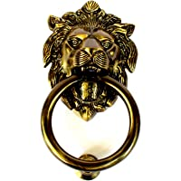 "Antique Black Finish 7""inch Brass Made Lion Face Brass Door Knocker Home Decor by-Wigano"