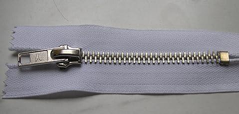 Reißverschluß Jeans 8 cm weiss silber