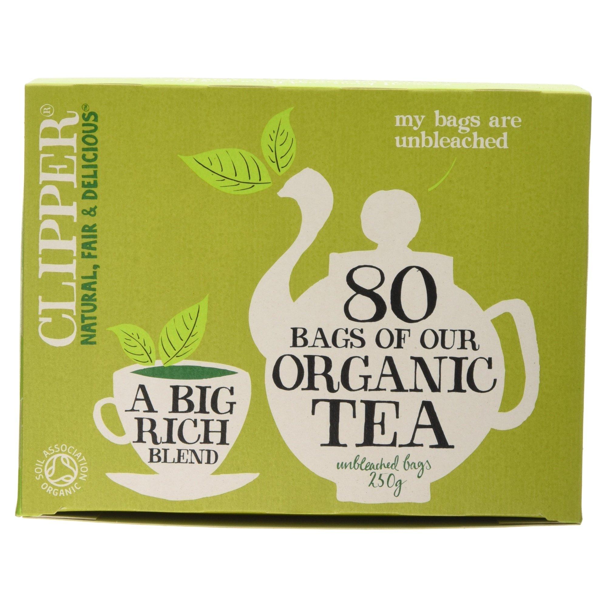 Clipper organic everyday decaf tea (soil association) (black tea) (everyday) (80 bags) (brews in 2-3 minutes)
