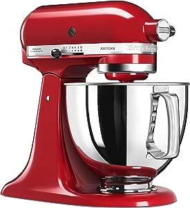 KitchenAid 5KSM125EER, Artisan Küchenmaschine mit Grundausstattung, empire rot
