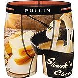 PULLIN - Boxer da Uomo Fashion 2, in Cotone, Stampa Sharkcheese