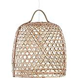 Handgefertigte Hängeleuchte BAMBOO 66cm Bambus Geflecht Korb Hängelampe Esszimmer Beleuchtung Bambuslampe Deckenlampe