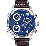 ساعة رجالية من جي بي دابليو ,جلد, كرونوجراف , 16 قطعة ألماس - J6248LN