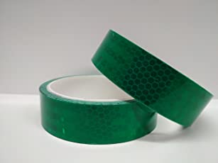 MK Retro Reflective Tape 25 mm (10 Ft, Green)