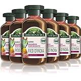Antica Erboristeria Shampoo Rinforzante Fico d'India, Shampoo per Capelli Fini, con Ingredienti Naturali, 6 pezzi x 250 ml