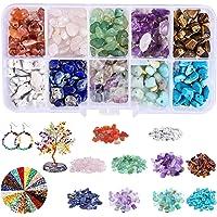 Perline di Pietre Preziose,150g Pietre Miste Irregolare,pietre per bigiotteria fai da te,Perline Pietra Naturale,Perline…