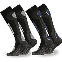 Occulto 2 Pairs of Thermal Socks for Men   Alpine Mens Ski Socks   Warm Winter Long Socks for Boys   Padding Work and…