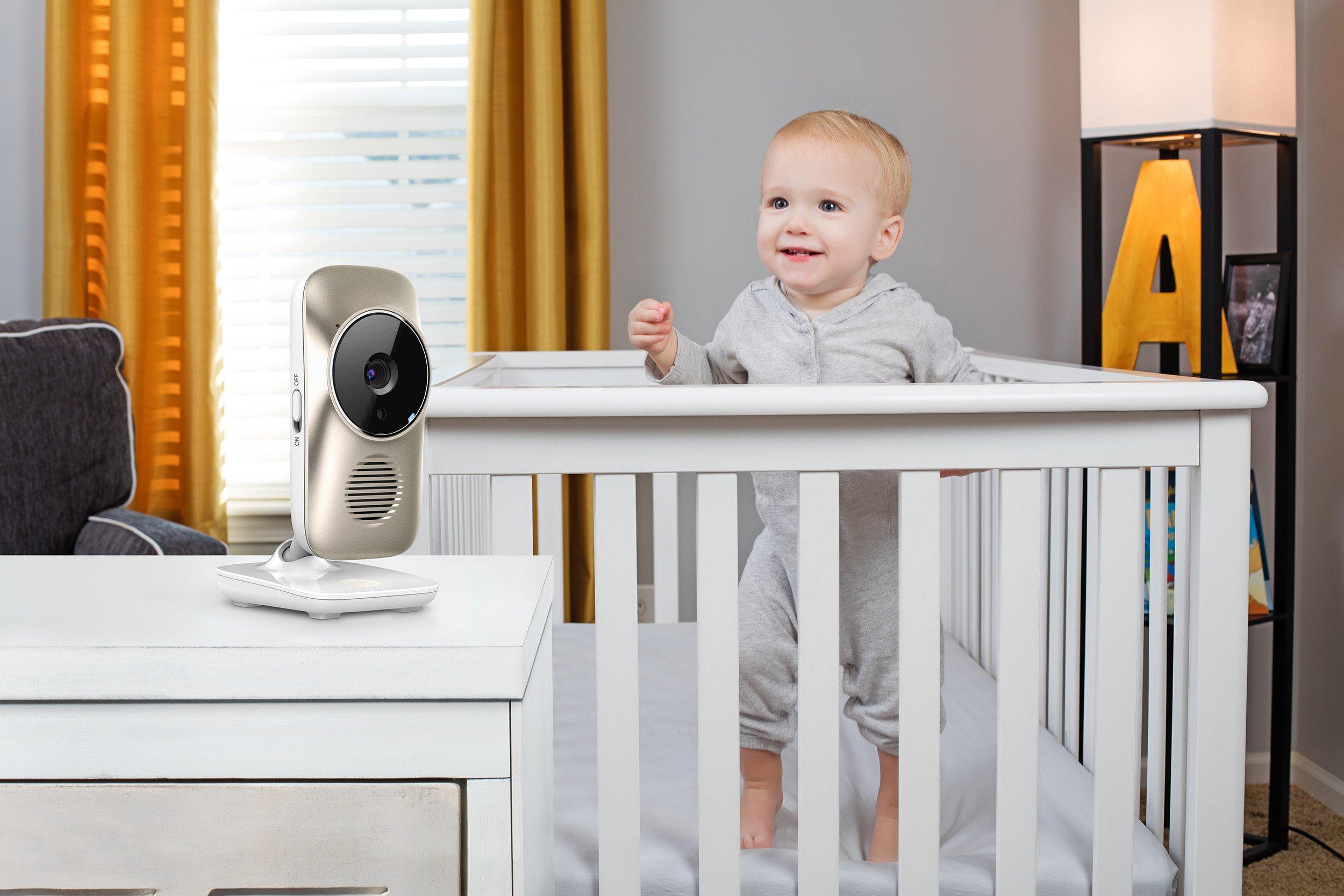 Motorola Wi-Fi Baby Video Monitor with LCD Screen Motorola MBP 845 Bianco