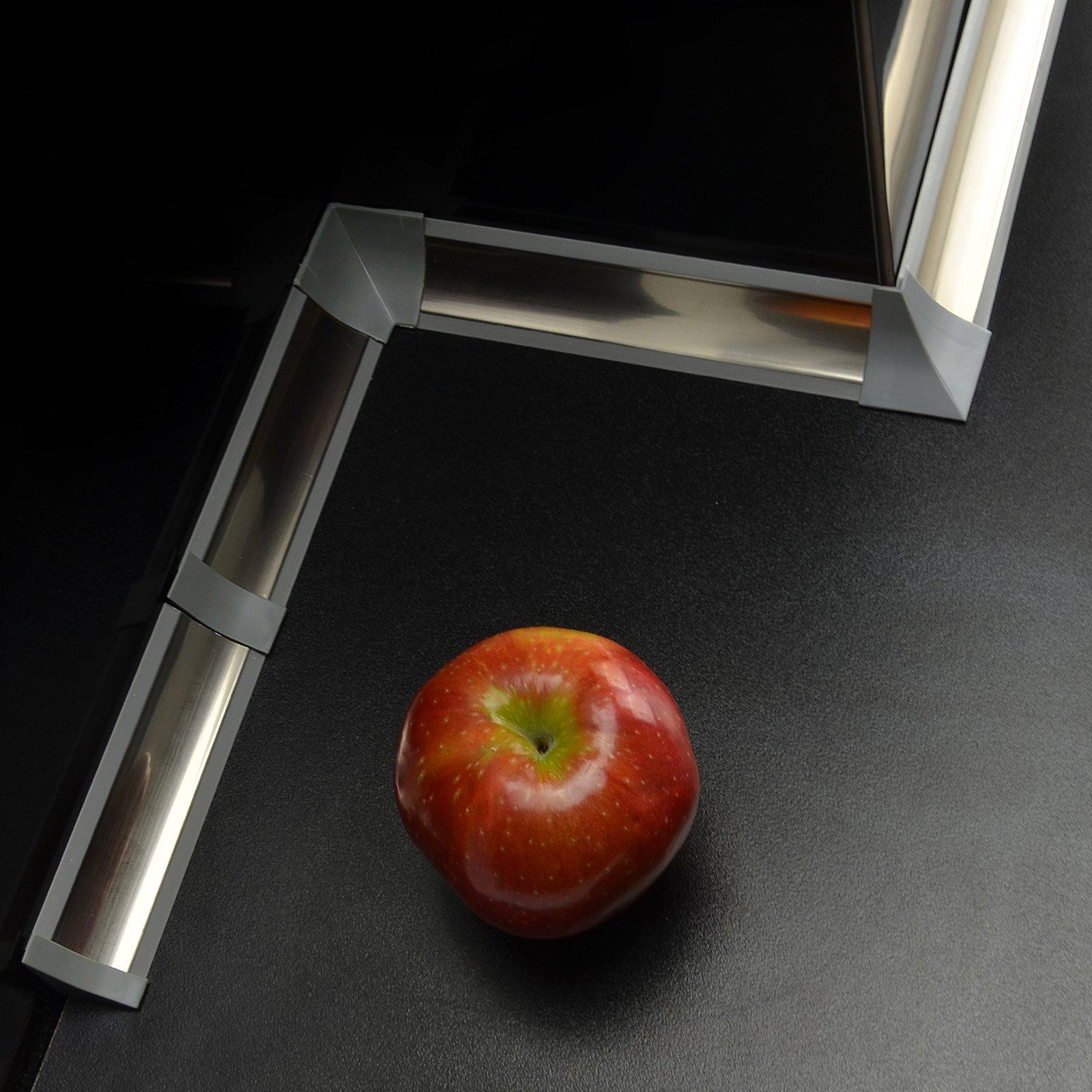 IMPOSTATO 23 mm PVC cucina piano di lavoro bordatura accessori colore: cromo
