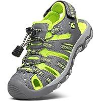 DREAM PAIRS Boys Girls Closed-Toe Outdoor Athletic Trekking Hiking Summer Sport Sandals