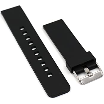 Fatetec 22MM For Pebble Time / Motorola 360 2nd Gen / Samsung Gear 2 R380 R381 R382 / LG G Watch W100 / LG G Watch R W110 / LG Watch Urbane W150 / Asus ZenWatch / Asus Vivowatch Smart Watch (Black)