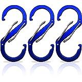Nsiwem 30 St/ück Karabiner f/ür Taschen 32mm Karabinerhaken D-Ringe Schiebeschnalle Gurtversteller Metallringe Abnehmbare Drehverschl/üsse f/ür Schl/üsselanh/änger Band Tasche Zubeh/ör Silber