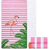 Alishomtll mikrofaser Strandtuch Flamingo groß mit Motiv Badetuch weich Stranddecke Ultraleicht Handtuch Saugfähig Schnelltro