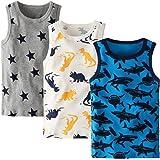 Adorel Camisetas Interiores Algodón para Niños Paquete de 3