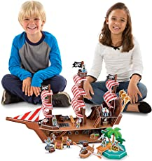 Melissa and Doug Pirate Ship 3D Puzzle, Multi Color