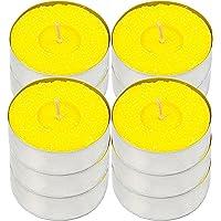 H Hannel Home Lot de 12 bougies chauffe-plat parfumées Citronnelle Citronnelle 10 heures de combustion