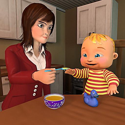 simulatore di madre 3D: simulatore di bambino virtuale giochi di mamma famiglia felice