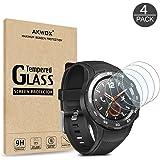 AKWOX 4 Stück Schutzfolie für Huawei Watch 2 Panzerglasfolie 9H Härtegrad 0.3mm Kratzfest HD Glasfolie für Huawei Watch…