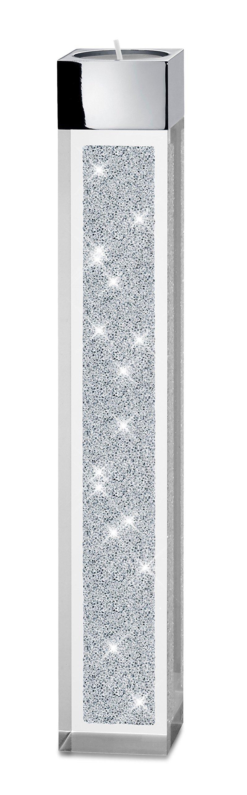 bougeoir pyl ne moderne pour bougies chauffe plat avec cristaux swarovski elements inspid co. Black Bedroom Furniture Sets. Home Design Ideas