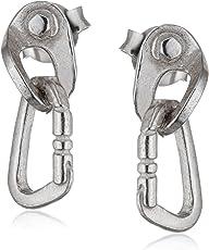 Fixe Ohrringe Plättchen und Karabiner–Schmuck