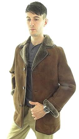 Radfordleathers Men's Traditional Shearling Sheepskin Coat: Amazon ...