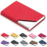 Padike Business Name Card Holder Luxury PU Leather & Stainless Steel Multi Card Case,Business Name Card Holder Wallet…